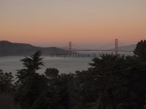Photo of Golden Gate Bridge at Sunset