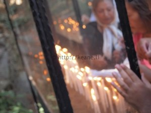 Lighting Candles at the House of the Virgin Mary in Turkey (photo)