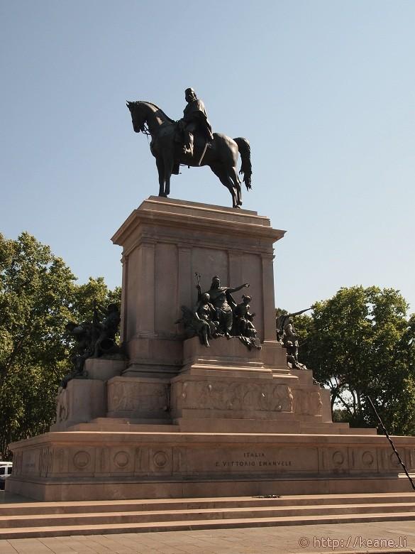 Garibaldi Monument on Gianicolo in Rome