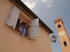 The streets of Santarcangelo di Romagna