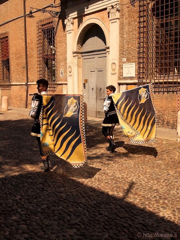 Palio di Ferrara - Parade Flag Bearers