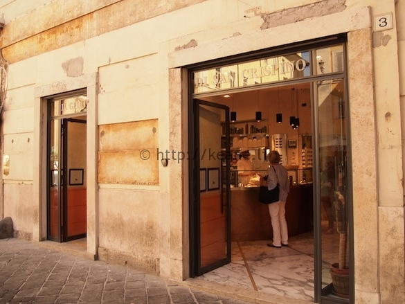 Gelato di San Crispino in Rome's Centro Storico