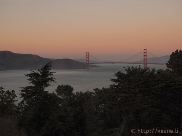 Photo of Golden Gate Bridge at Sunset
