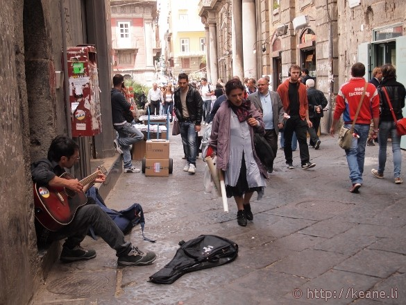 Street musician in the Centro Storico in Naples