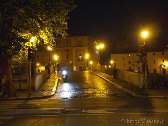 Bridge in Rome at Night