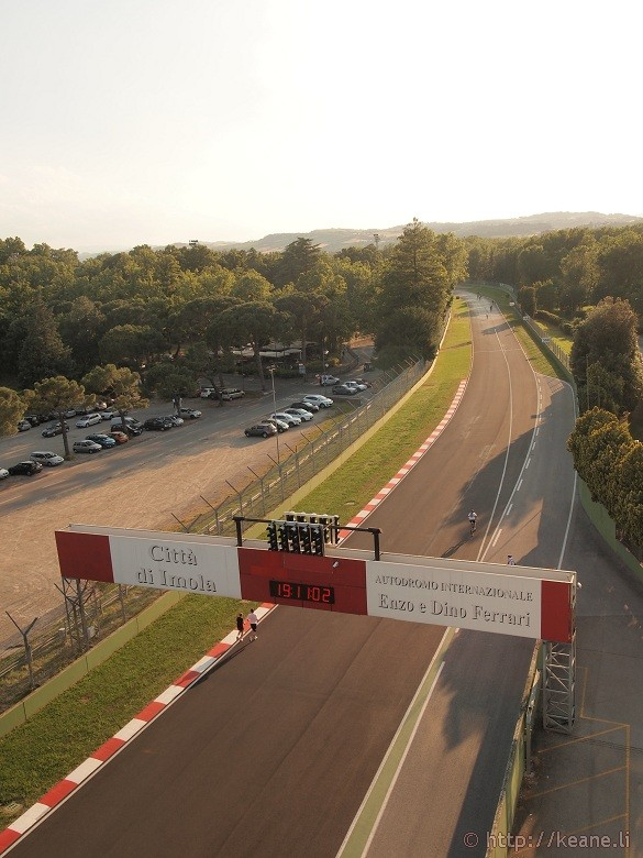 The Enzo e Dino Ferrari Racetrack in Imola