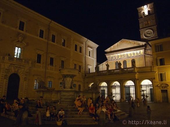 Summer Nights in Rome - Piazza di Santa Maria in Trastevere