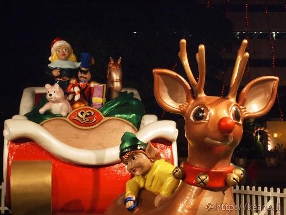 Honolulu City Lights - Christmas 2012 - Rudolph and Sleigh