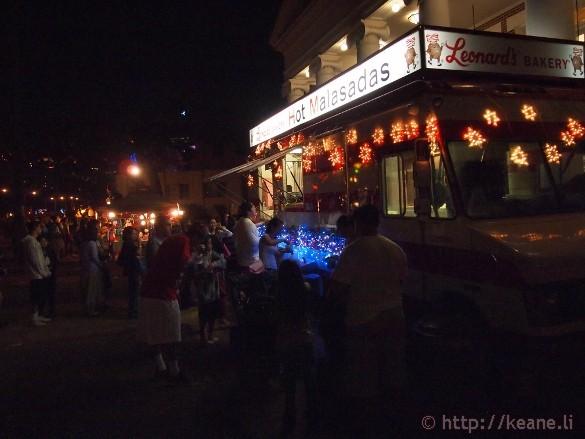 Honolulu City Lights 2012 - Leonard's Malasadas