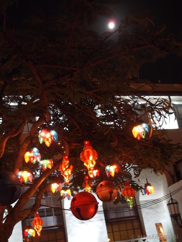 Honolulu City Lights - Christmas 2012 - Lights and Moon