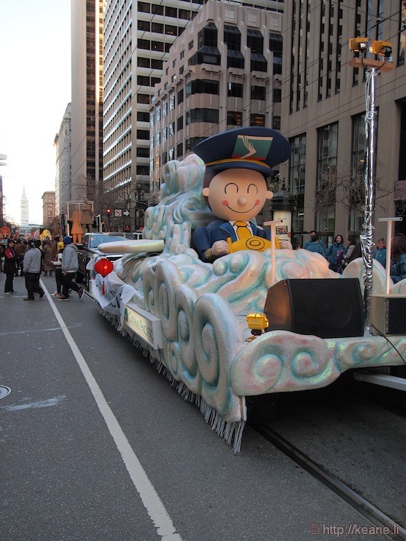 Cathay Pacific Chinese New Year parade float in San Francisco