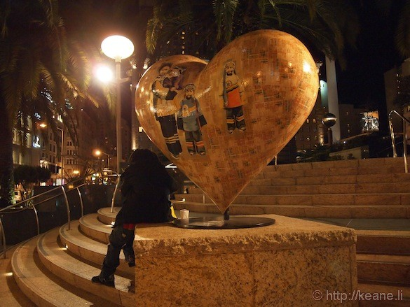 Hearts in San Francisco in Union Square - Chinese New Year