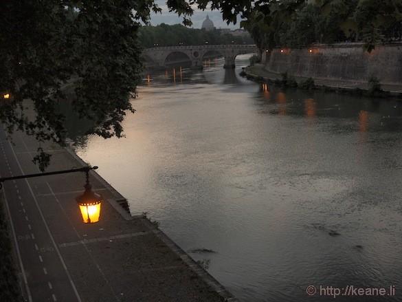 Rome - Tevere river at twilight