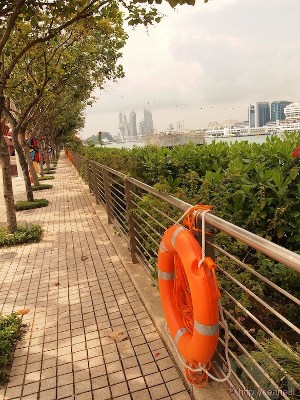 Sentosa Island in Singapore - Life vest and waterfront