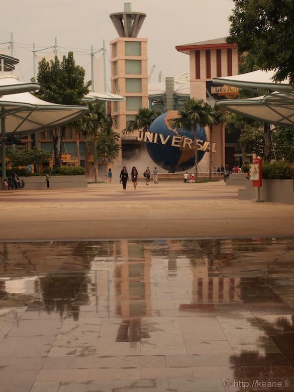 Sentosa Island in Singapore - Universal Studios globe