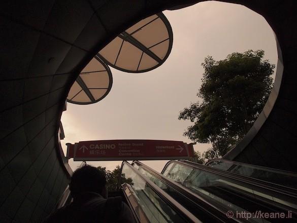 Sentosa Island in Singapore - Escalator