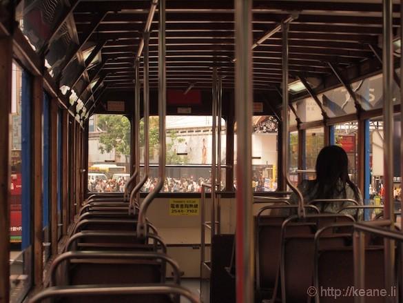 Riding the Historic Double Decker Tram in Hong Kong