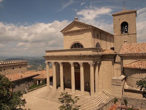 Church at the top of San Marino