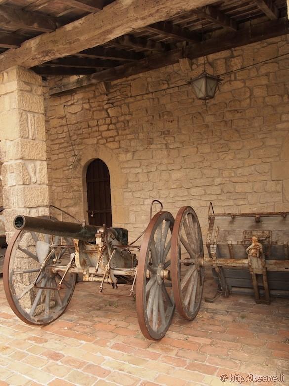 Canon in Courtyard inside Guaita Castle in San Marino