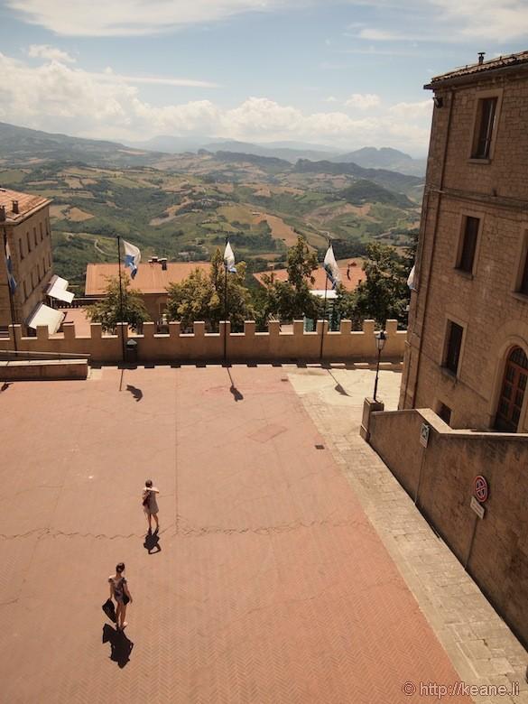 Courtyard in San Marino