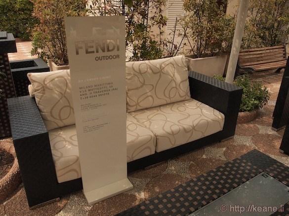 Grand Hotel Rimini - Fendi furniture by the swimming pool