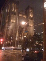 Grace Cathedral in the Rain