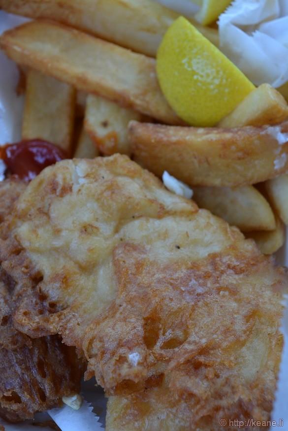 Fish & Chips from Barbara's Fishtrap in Half Moon Bay