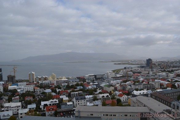 View of Reykjavík from atop Hallgrímskirkja