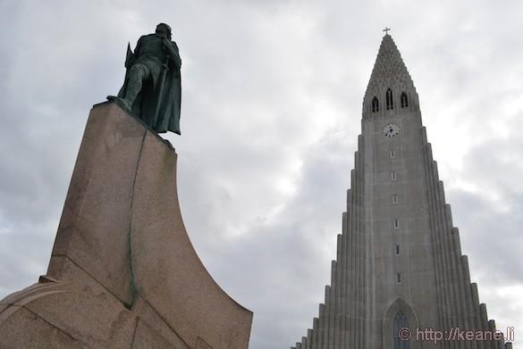 Hallgrímskirkja Church and Statue of Leif Eriksson