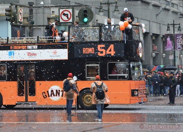SF Giants World Series 2014 Parade - Sergio Romo