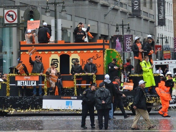 SF Giants World Series 2014 Parade - Metallica