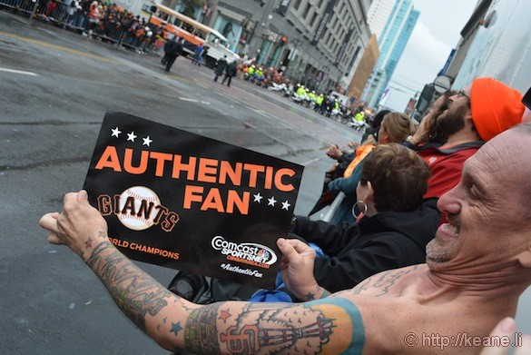 SF Giants World Series 2014 Parade - Authentic Fan