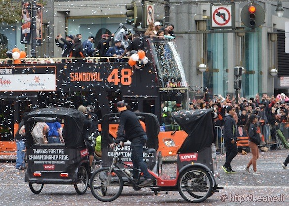 SF Giants World Series 2014 Parade - Pablo Panda Sandoval