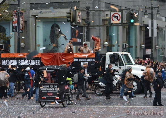 SF Giants World Series 2014 Parade - MVP Madison Bumgarner