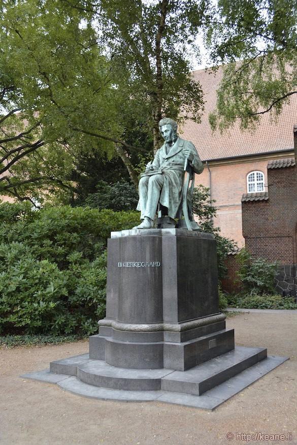 Statue of Søren Kierkegaard in Copenhagen