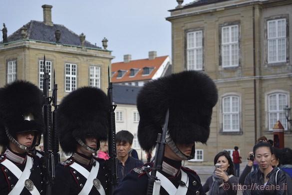 Royal Guard at Amalienborg Palace in Denmark