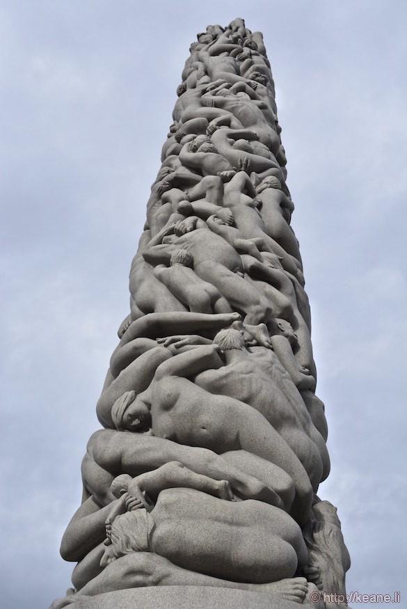Gustav Vigeland Column in Frogner Park in Oslo