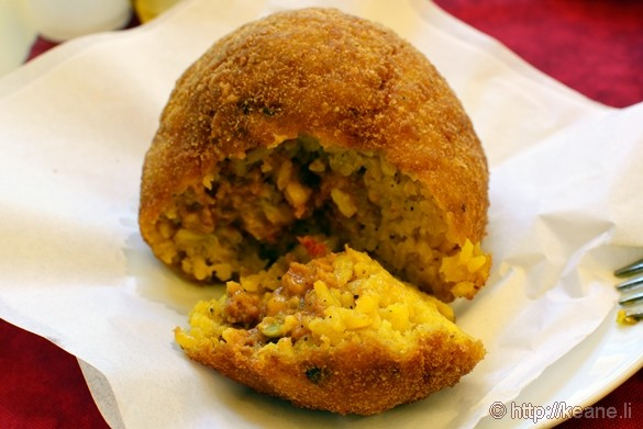 Arancina Bomba from Bar Touring in Palermo