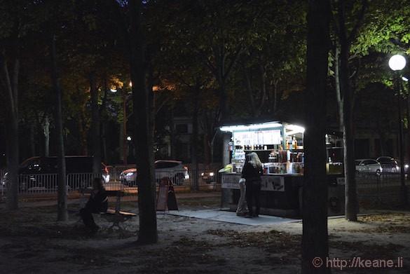 Champs-Élysées - Food Vendor at Night