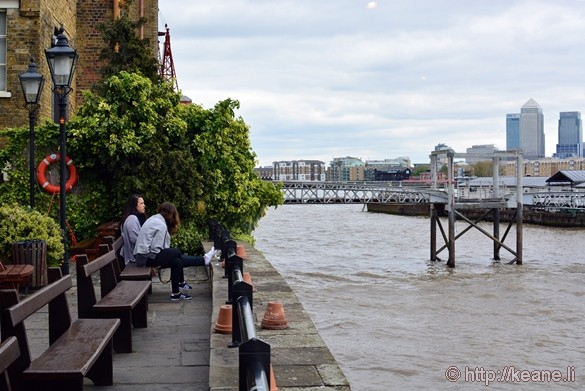 Thames River from Inside Captain Kidd in Wapping