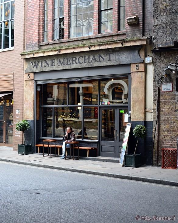 Wine Merchant at Borough Market