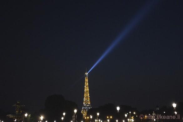 Eiffel Tower Lights at Night