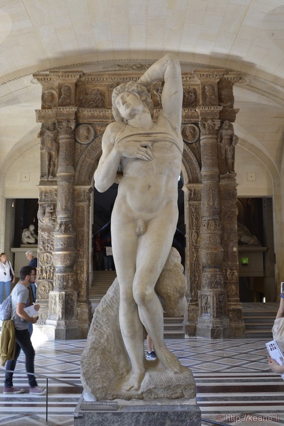 Louvre Museum - Michelangelo's The Dying Slave