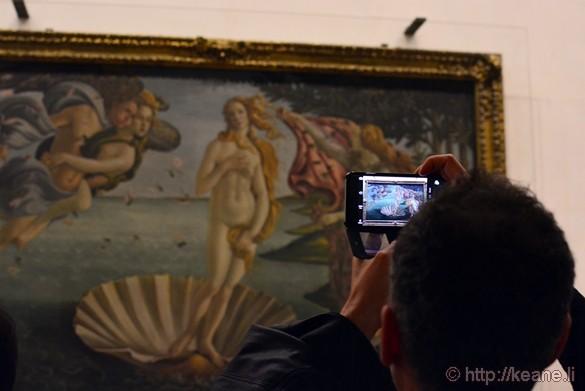 Botticelli's Birth of Venus in the Galleria degli Uffizi
