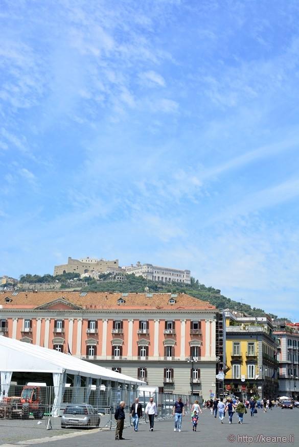 View of Castel Sant'Elmo from Piazza del Plebiscito
