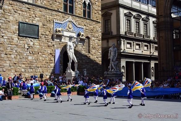 Flag Bearers in the Piazza della Signoria