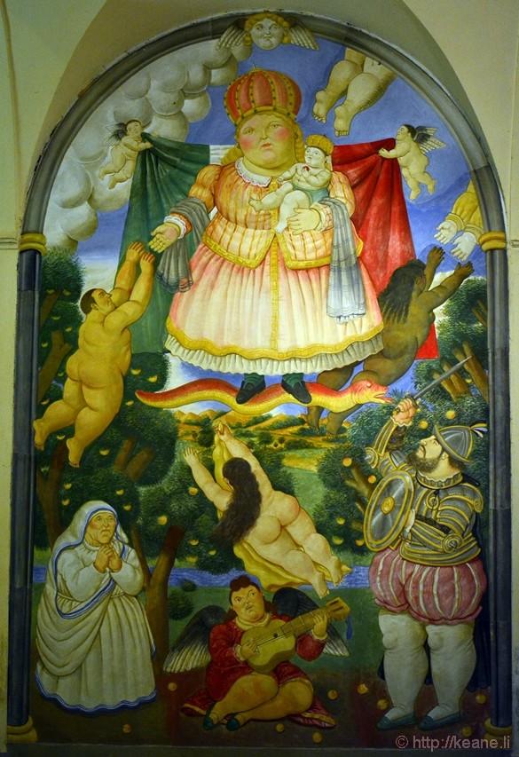 Pietrasanta - Painting by Botero
