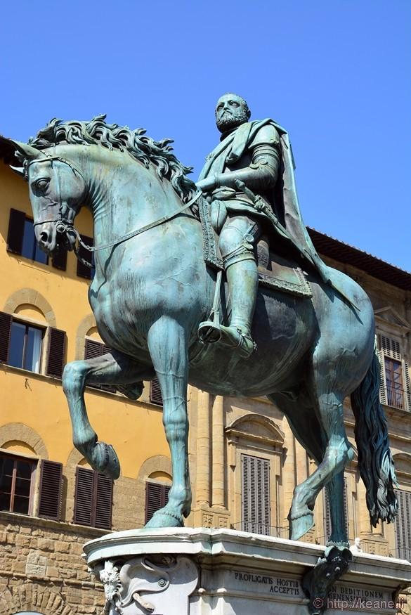 Equestrian Statue of Cosimo I de' Medici in the Piazza della Signoria