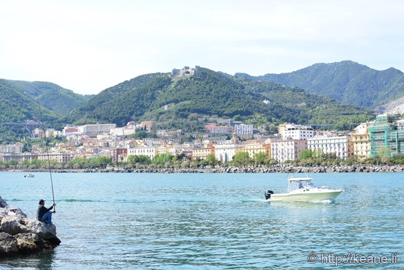 Salerno Waterfront and Fisherman