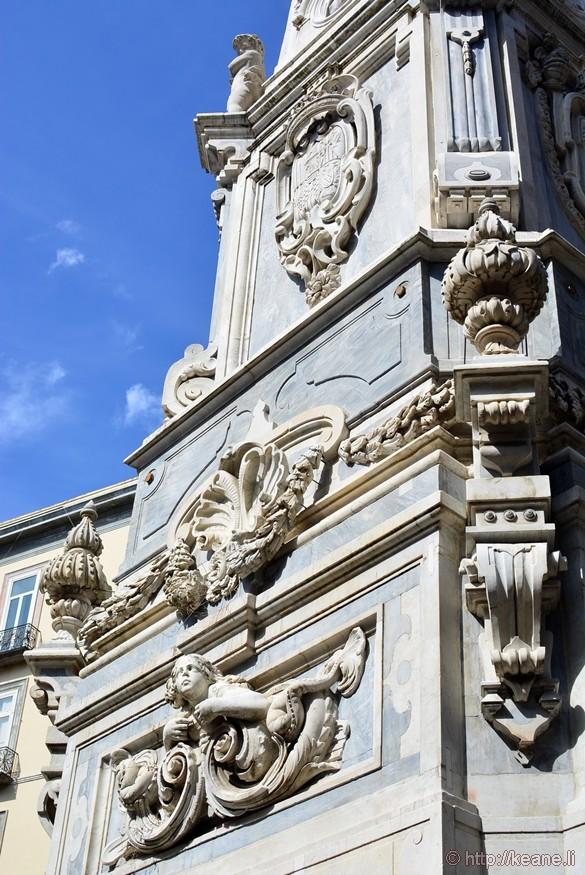Spire of San Domenico in the Piazza San Domenico Maggiore